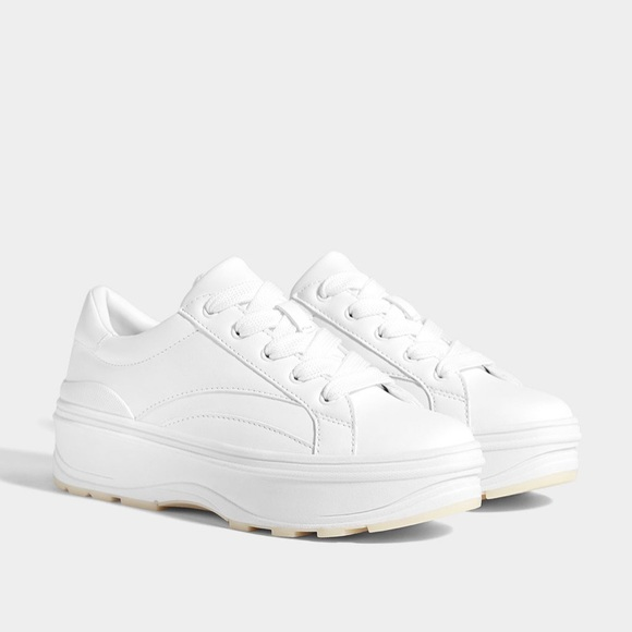 timeless design the best 100% authentic Bershka Shoes | Nwt Platform White Sneakers | Poshmark